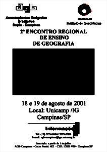 Cartaz do 2º Encontro Regional de Ensino de Geografia